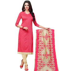 LADYLINE Blended Silk Salwar Kameez with Embroidered Dupatta Indian Pakistani Suit Ready to Wear