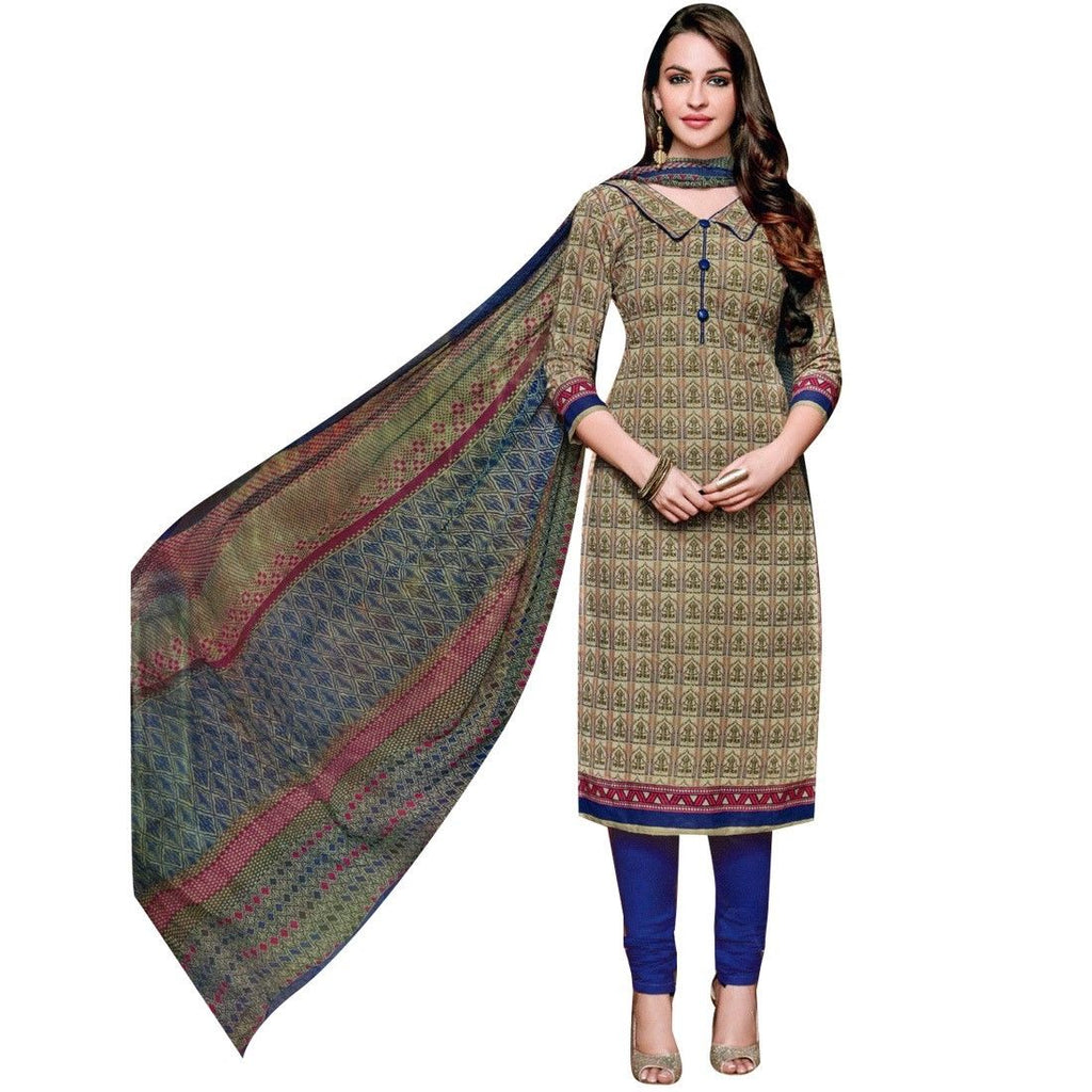 Readymade Ethnic Pure Cotton Printed Indian Salwar Kameez with chiffon Dupatta Pakistani