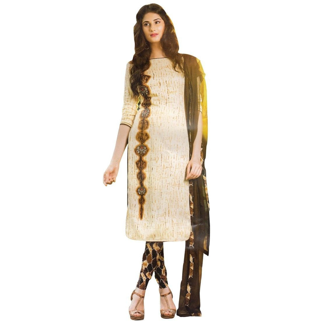 Ethnic Tie-Dye Rich Cotton Embroidered Salwar Kameez Palazzo Pants