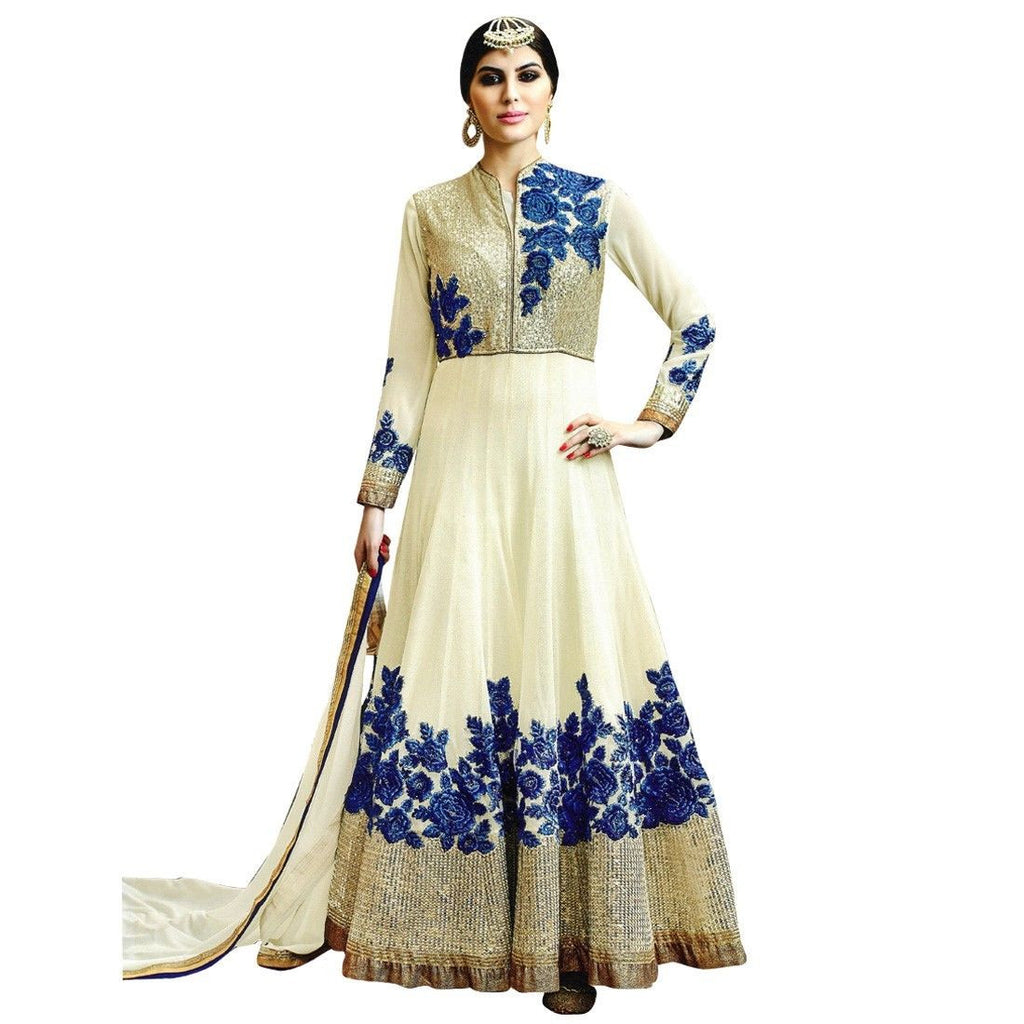 Designer Partywear Silk Embroidered Salwar Kameez Suit Readymade