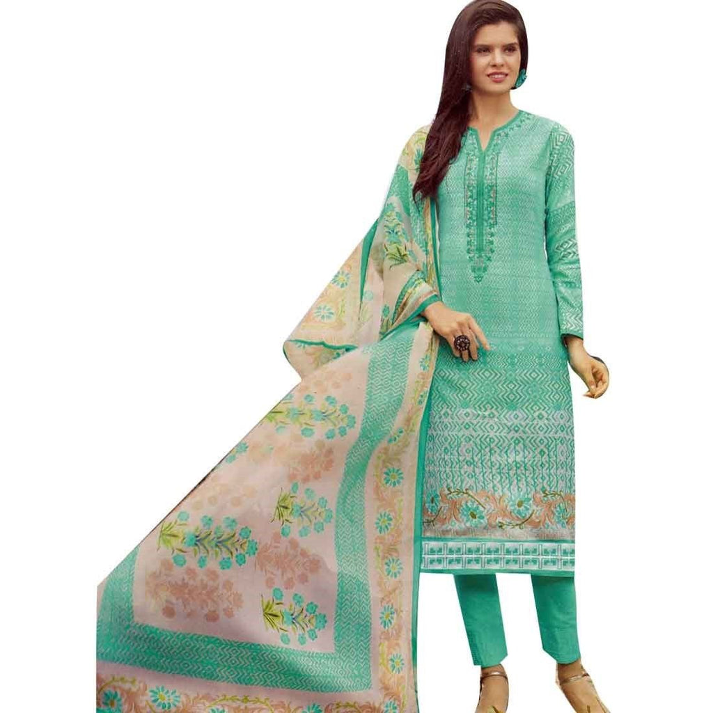 Ready to wear Cotton Karachi Style Printed + Embroidered Salwar Kameez Suit Indian