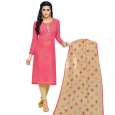 Readymade Silk Embroidered Fancy Dupatta Salwar Kameez Suit