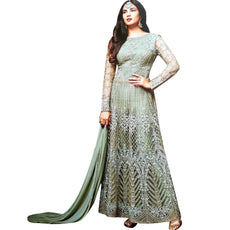 LADYLINE Wedding Floor Length Anarkali Salwar Kameez Indian Womens Partywear Dress