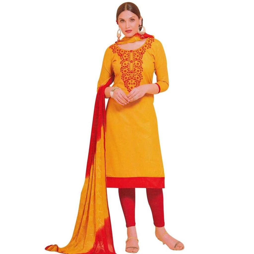 Ready Made Cotton Embroidered Salwar Kameez Suit Indian Bollywood