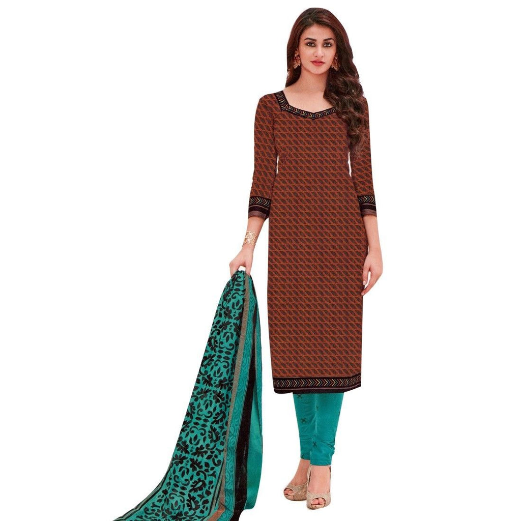 Ready to Wear Ethnic Printed Cotton Salwar Kameez Indian Pakistani Dress