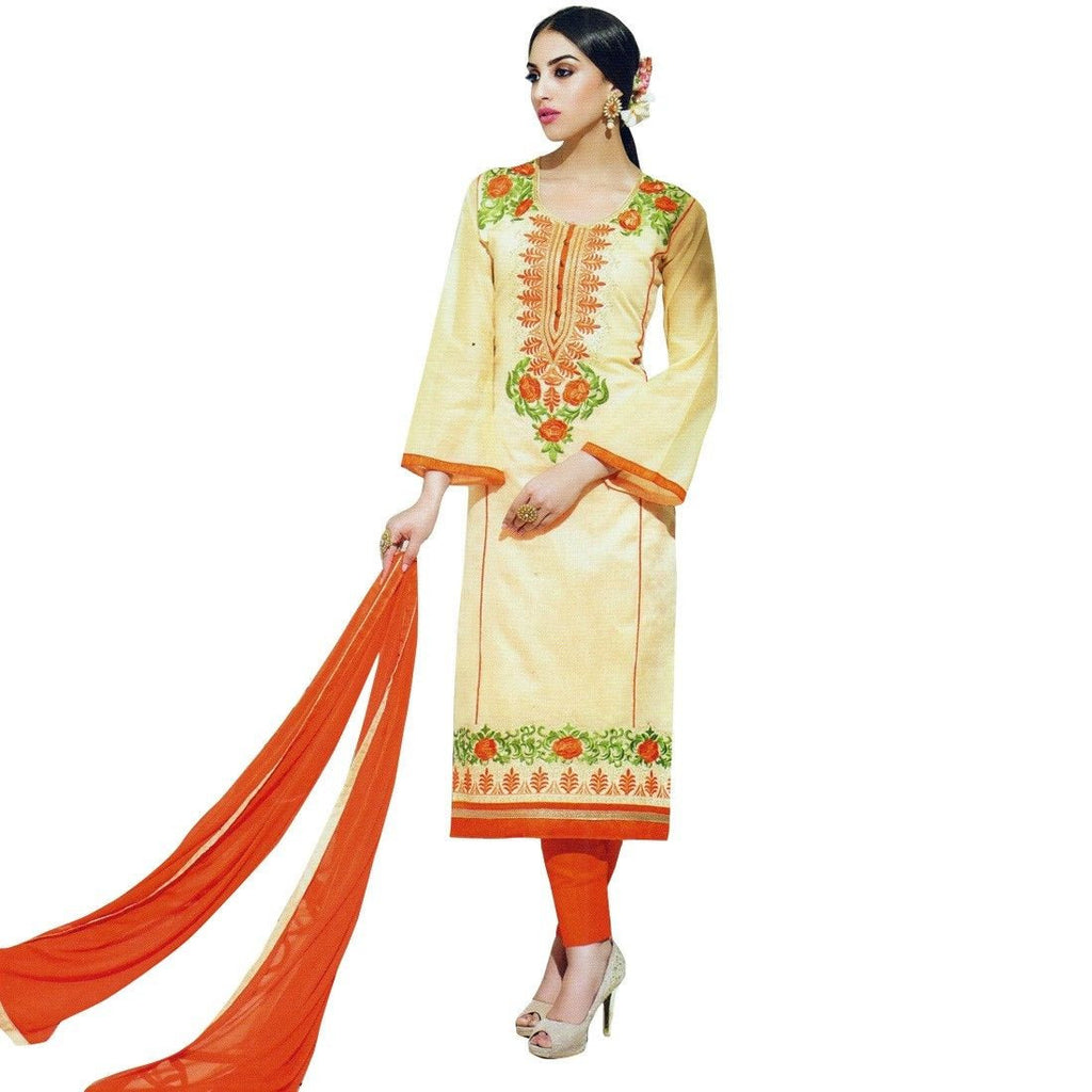 Designer Silk Embroidered Ready made Salwar Kameez Suit Indian