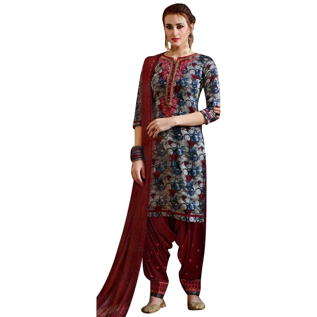 Readymade Palazzo Pants Embroidered Cotton Salwar Kameez Suit Indian Dress