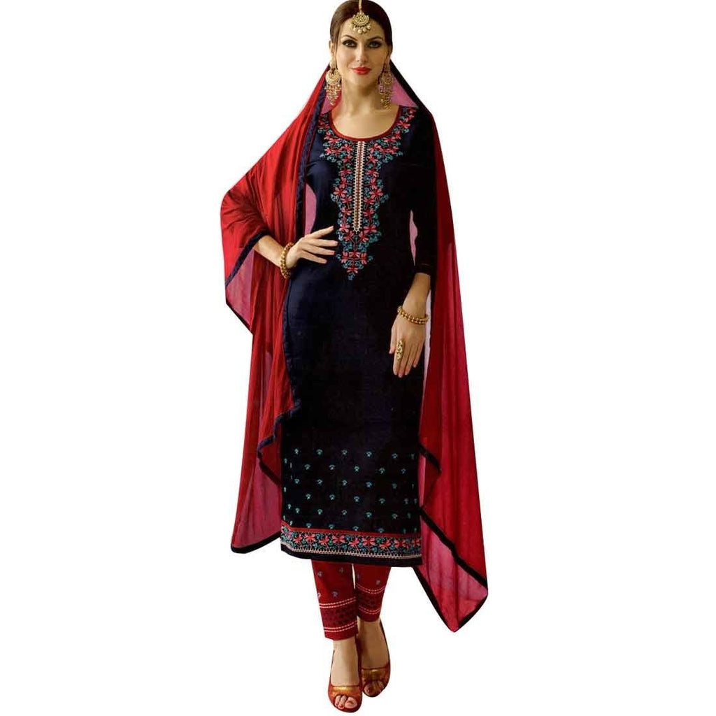 Readymade Womens Cotton Embroidered Salwar Kameez Suit Indian Pakistani Dress