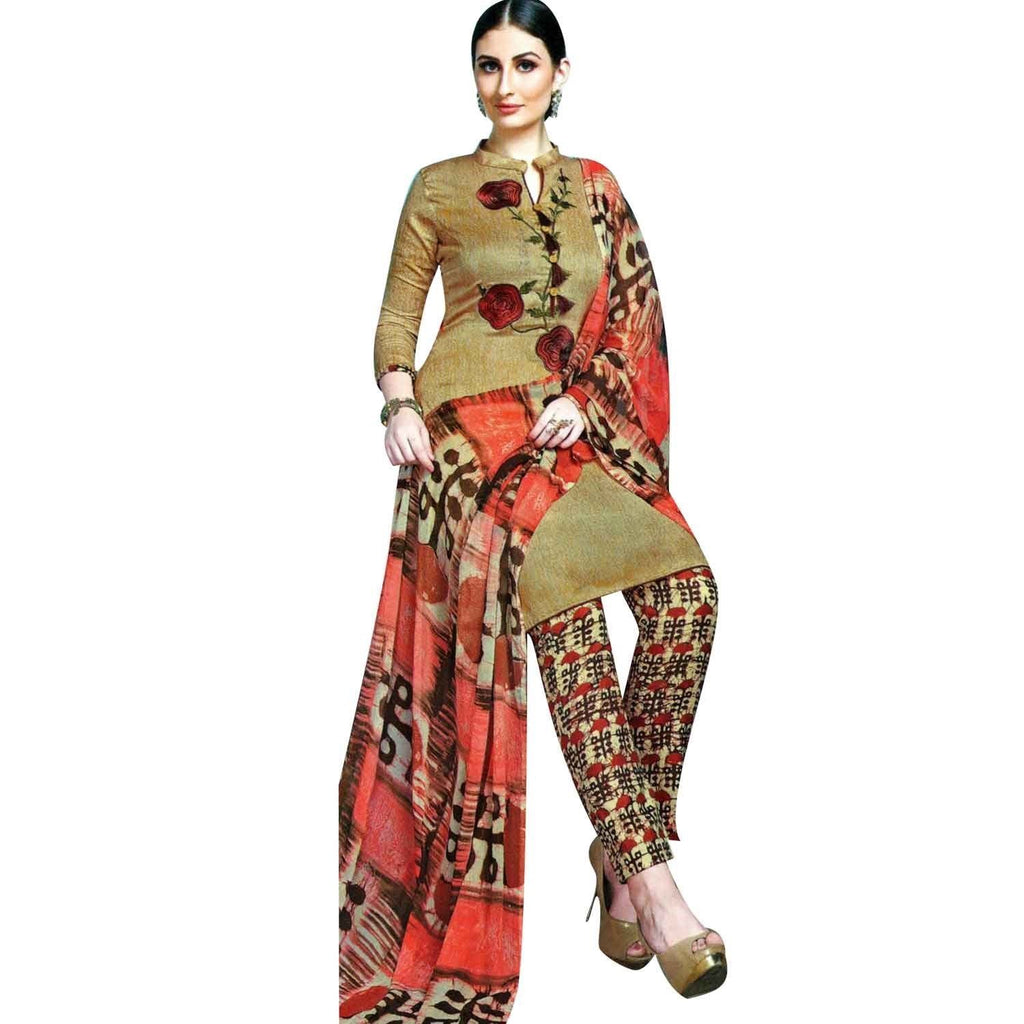 LADYLINE Cotton Embroidered Salwar Kameez with Palazzo Pants
