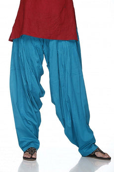 Blue Pain Cotton Patiala Salwar Pants