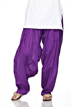 Purple Pain Cotton Patiala Salwar Pants