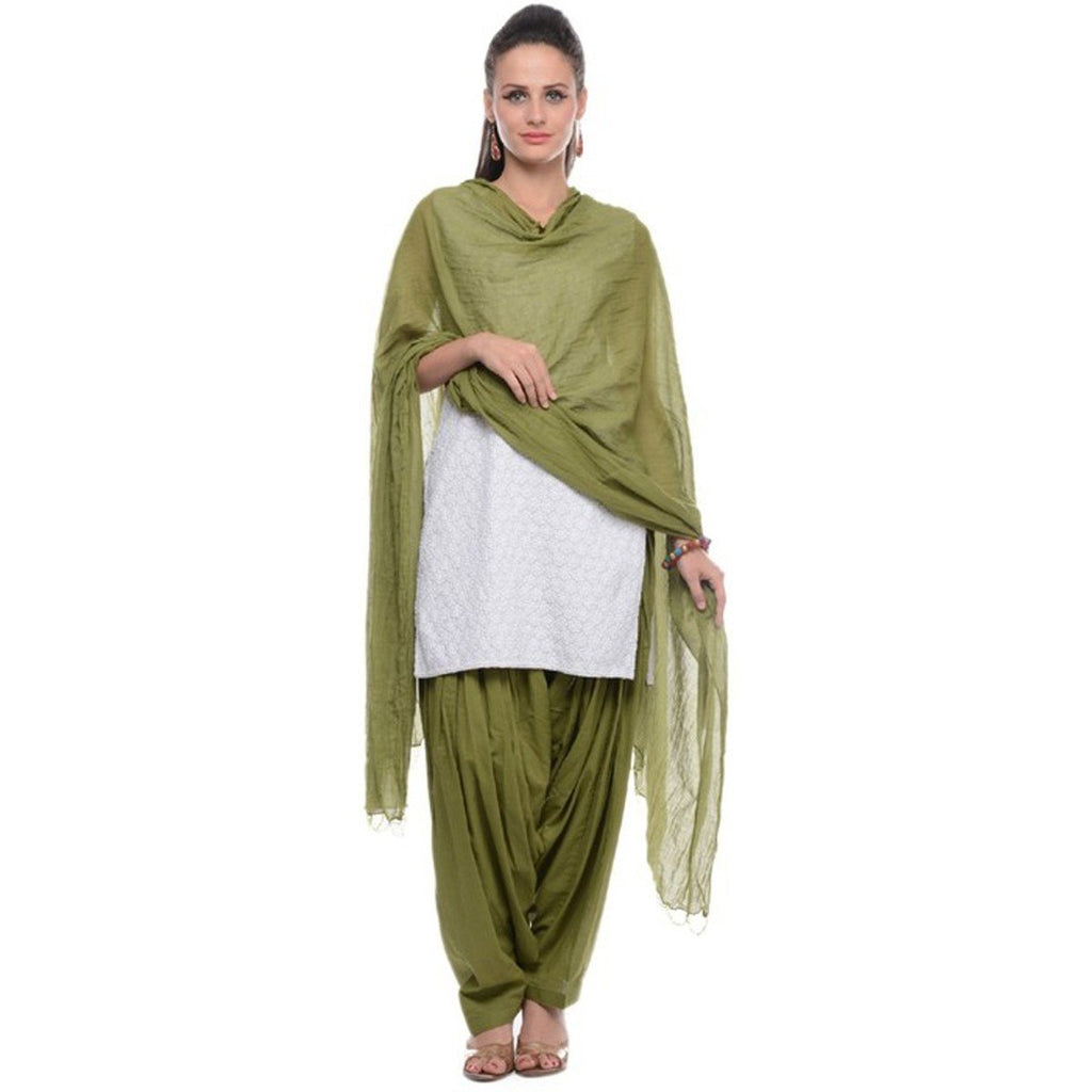 Military Green Pain Cotton Patiala Salwar Pants