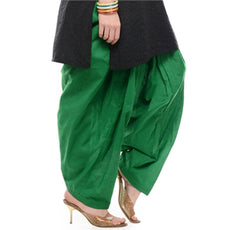 Green Pain Cotton Patiala Salwar Pants