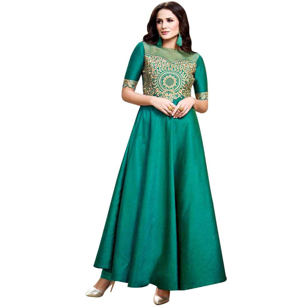 Designer Long Anarkali Floor Length Kurtis / Kurta / Top / Tunic Indian Pakistani Dress Gown