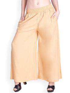 Plain Rayon Palazzo Pants with Pockets - 24 inch inseam