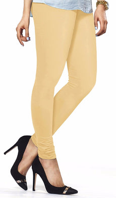 Beige Premium Soft Cotton Churidar Leggings