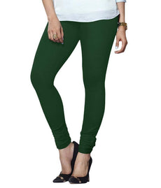 Bottle Green Premium Soft Cotton Churidar Leggings