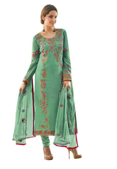 Ladyline Georgette Embroidered Salwar Kameez Churidar for Womens Ready to Wear Indian Dress Party Wear