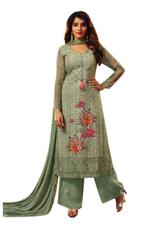 Ladyline Chiffon Georgette Printed with Self Embroidered and work Salwar Kameez Suit for Womens