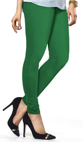 Green Premium Soft Cotton Churidar Leggings