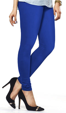Ink Blue Premium Soft Cotton Churidar Leggings