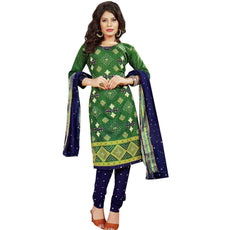 Ready to Wear Bandhej Print Embroidery Cotton Salwar Kameez