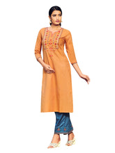 100% Cotton Embroidered Kurta with Pants Womens Tunic Kurti Indian Dress