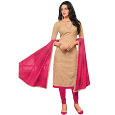Readymade Embroidered Dupatta Jacquard Cotton Salwar Kameez Suit