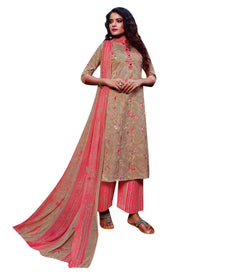 Ladyline Pure Cotton Salwar Kameez Printed with Gold Khadi print Salwar Suit Indian Dress for Womens