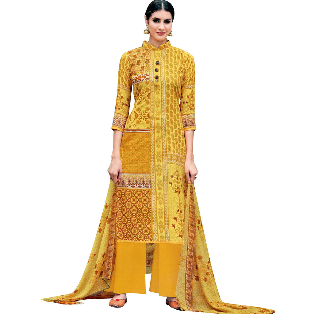 8987c1d03d Ladyline Ready to wear Pure Lawn Cotton Salwar Kameez Printed Designer