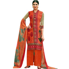 Ladyline Ready to wear Pure Lawn Cotton Salwar Kameez Printed Designer with Show Button Readymade Indian Dress