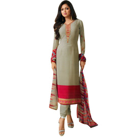 Bollywood Italian Crepe Embroidered Readymade Salwar Kameez Indian