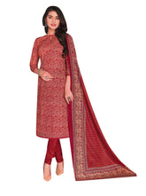 Ladyline Casual Ethnic Printed Pure Cotton Salwar Kameez Suit with Cotton Printed Dupatta