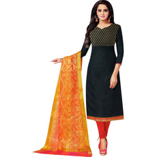 LADYLINE Womens Formal Silk Embroidered Salwar Kameez with Banarasi Silk Dupatta Ready to wear Salwar Suit