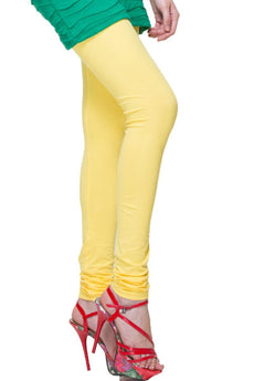 Light Lemon Premium Soft Cotton Churidar Leggings
