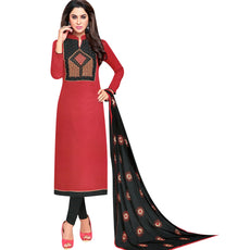 LADYLINE Womens Cotton-Silk Embroidered Salwar Kameez Formal Indian Dress Ready to wear Salwar Suit