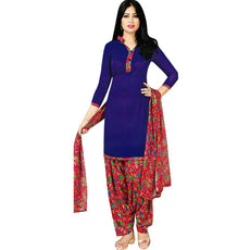 LADYLINE Womens Ready to Wear Salwar Kameez Faux Crepe Printed Indian Stitched Salwar Suit
