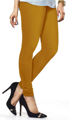 Mustard Premium Soft Cotton Churidar Leggings