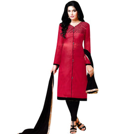 Designer Hand-Worked Silk Readymade Salwar Kameez Suit Indian