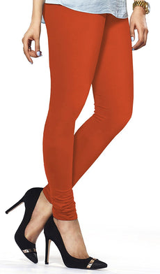 Orange Premium Soft Cotton Churidar Leggings
