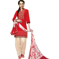 Designer Readymade Patiala Salwar Embroidered Cotton Salwar Kameez