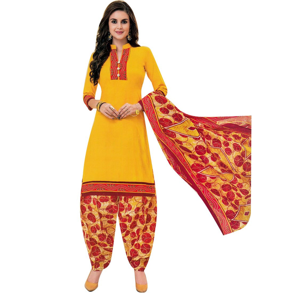 Designer Printed Cotton Salwar Kameez Readymade Suit Indian Dres