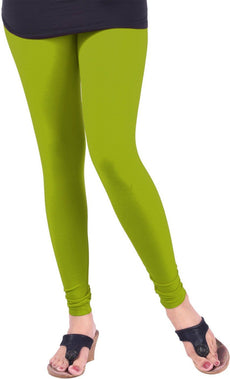 Parrot Green Premium Soft Cotton Churidar Leggings
