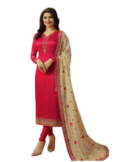 LADYLINE Wedding Salwar Kameez Maslin Silk with Embroidered Sleeves & Dupatta