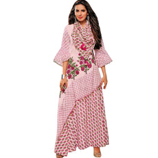 Ladyline Three Piece Cotton Printed Kurti