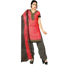 LADYLINE Womens Faux Crepe Printed Salwar Kameez Suit Indian Pakistani Ready Made Stitched Dress