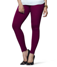 Purple Premium Soft Cotton Churidar Leggings