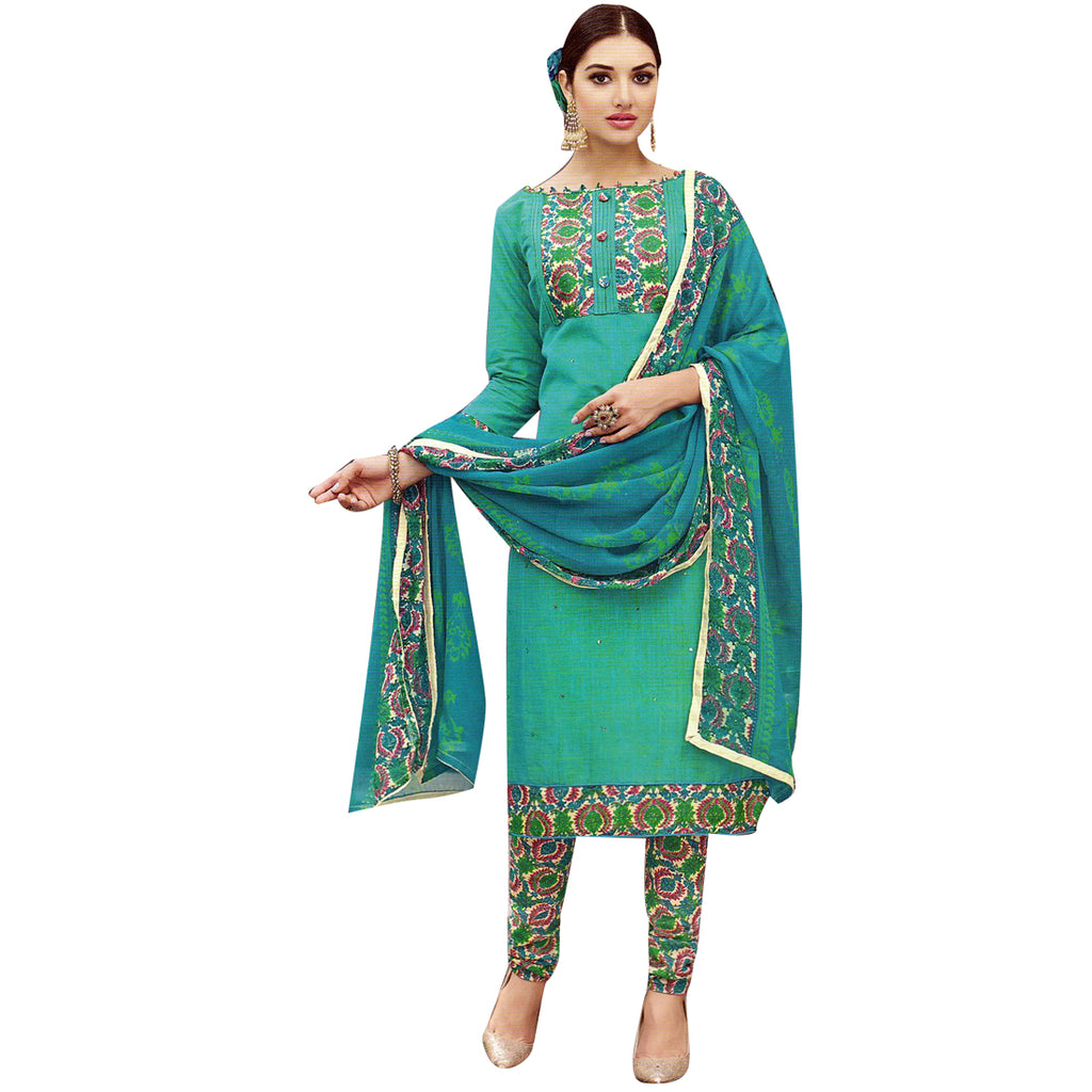 Designer Handloom Cotton Ready made Salwar kameez Indian Dress