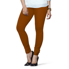 Rust Premium Soft Cotton Churidar Leggings