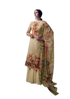 Ladyline Pure Cotton Printed Salwar Kameez for Womens with Palazzo Pants Ready to Wear Indian Dress